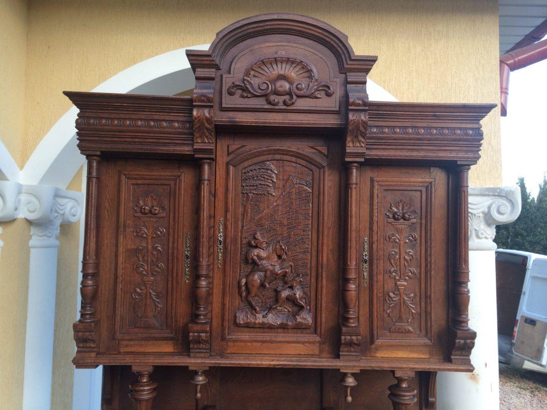 Старовинний дубовий буфет у стилі Генріх 150415001