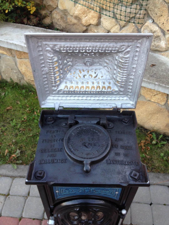 Старинная печь марки GODIN