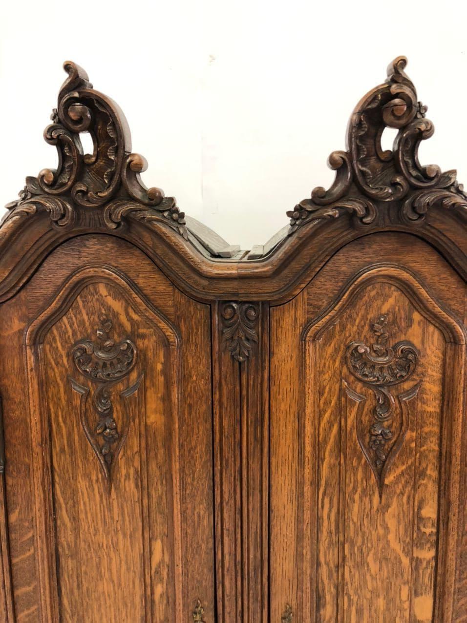 Антикварный шкафчик в стиле Рококо 191216003У
