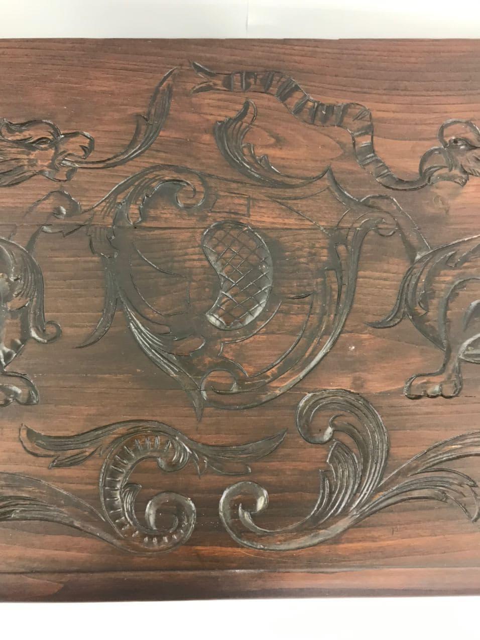 Антикварный дубовый сундук в стиле Ренессанс 180626005У