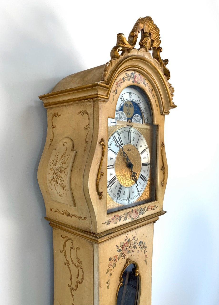 Винтажные расписные часы в стиле Прованс
