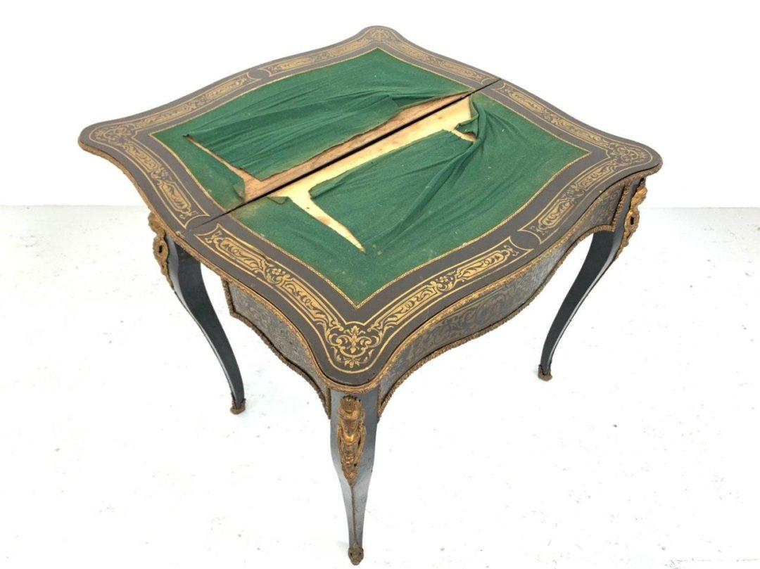 Антикварный игровой стол-консоль эпохи Наполеона ІІІ