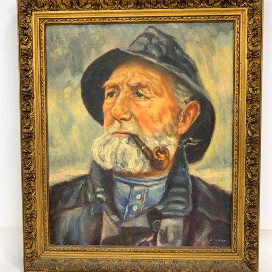 Антикварная картина, портрет