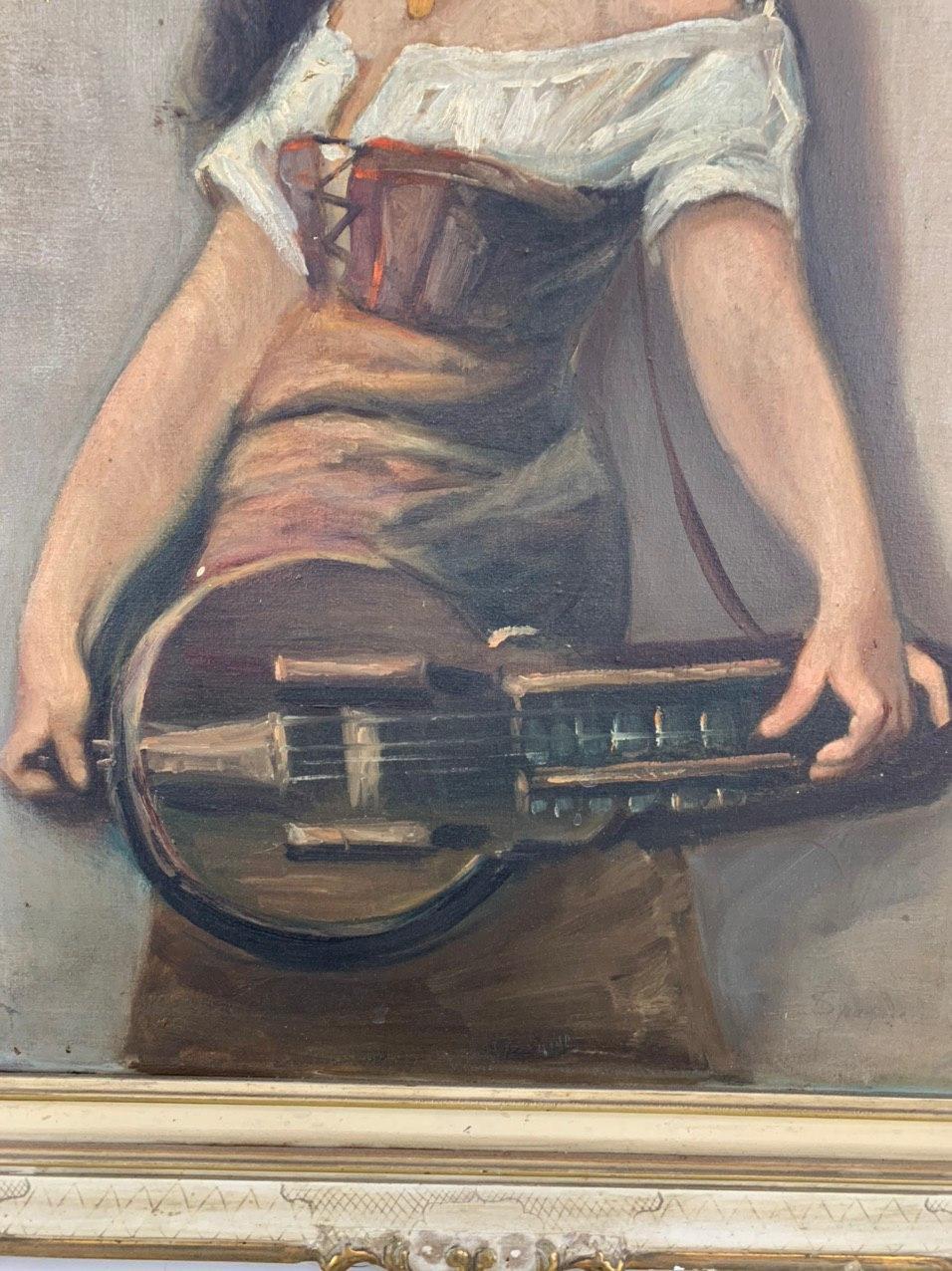 Антикварная картина «Цыганка»