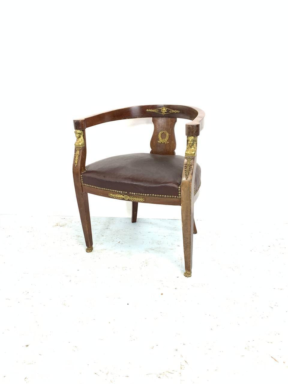 Антикварное кабинетное кресло в стиле Ампир