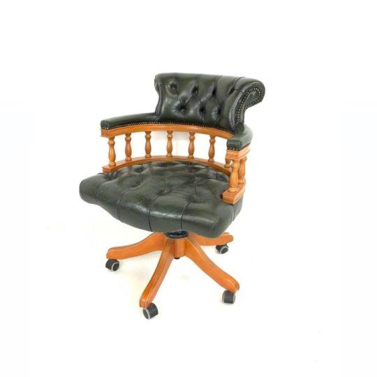 Винтажное кабинетное кресло в стиле Честерфилд