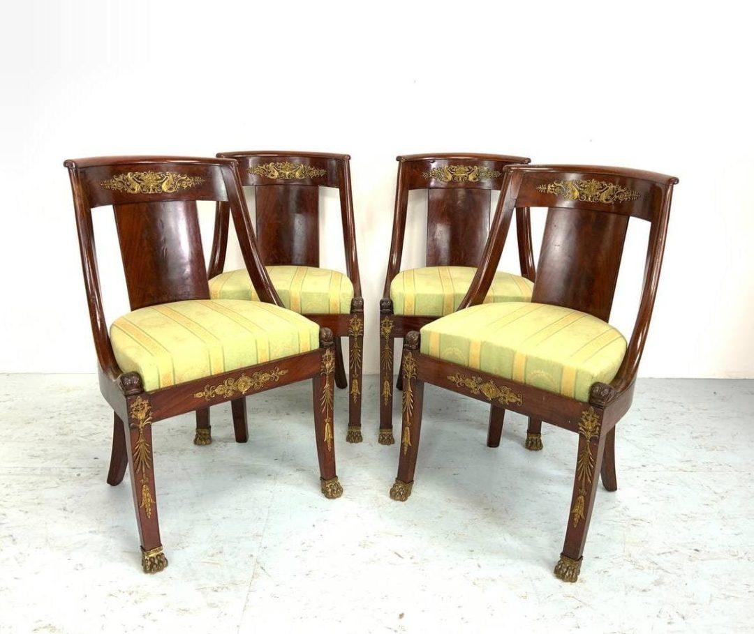 Антикварные кресла в стиле Ампир