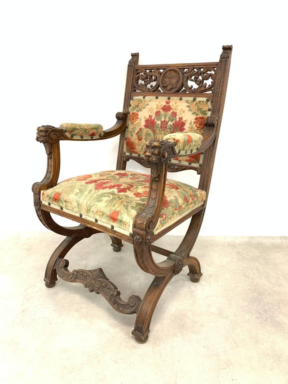 Антикварное кресло стиле Нео-Ренессанс