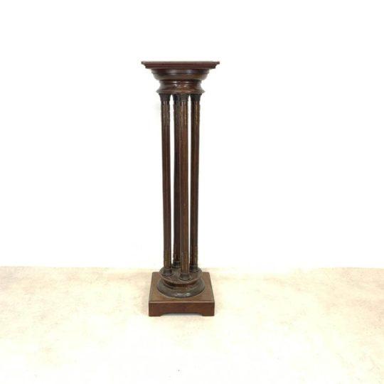 Антикварная деревянная стойка-колонна