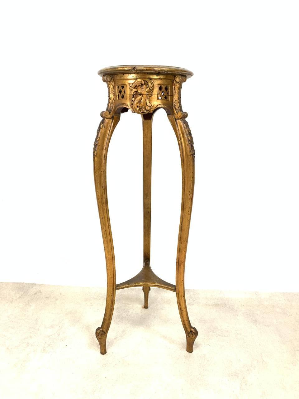 Антикварная стойка-колонна в стиле Рококо