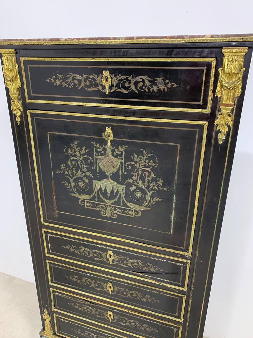 Антикварный секретер эпохи Наполеона III