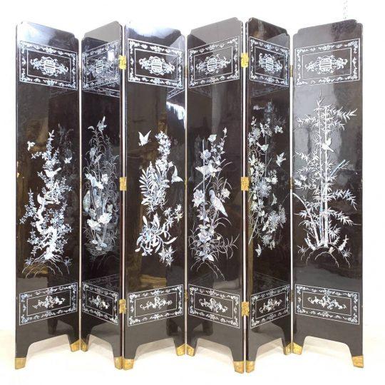 Антикварная ширма в стиле Шинуазри