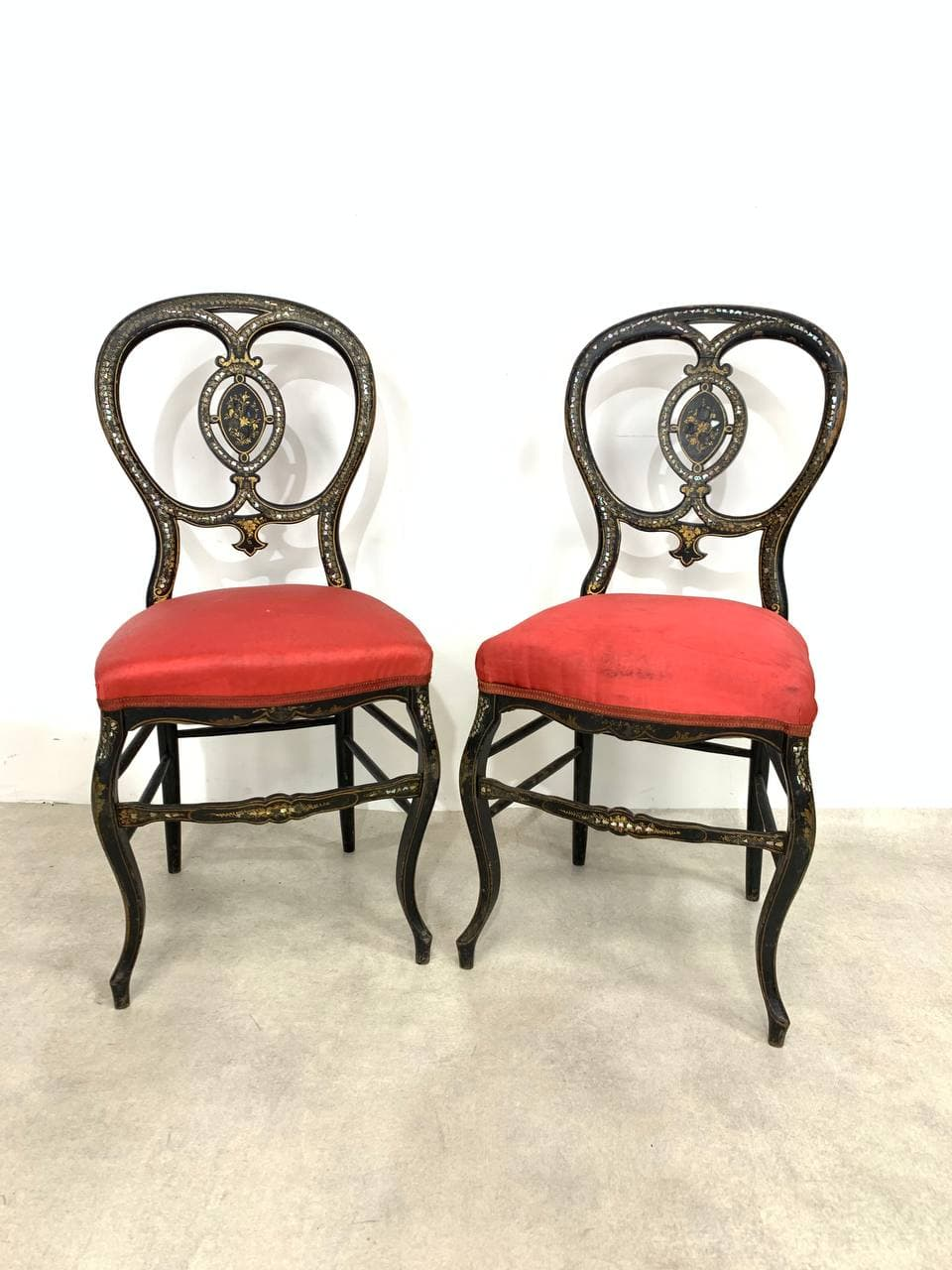 Антикварная пара стульев эпохи Наполеона ІІІ