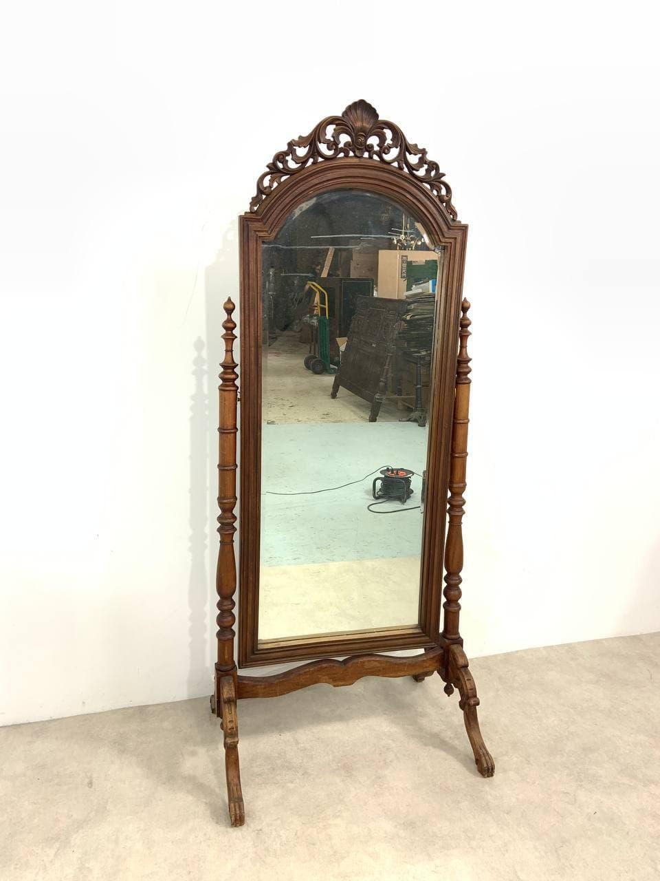 Антикварное напольное зеркало