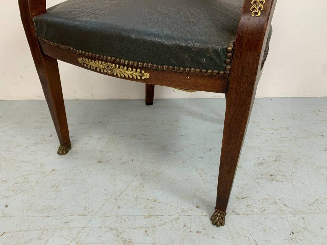Антикварное кресло в стиле Ампир
